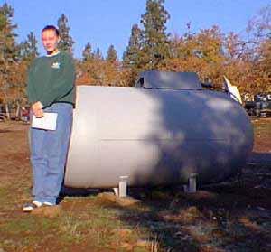 how to cut a 500 gallon propane tank