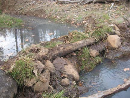 how to create a small dam