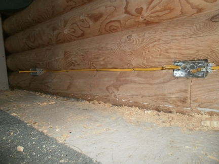 outlets on a log wall rh windward org log home wiring installation Log Home Roof Insulation